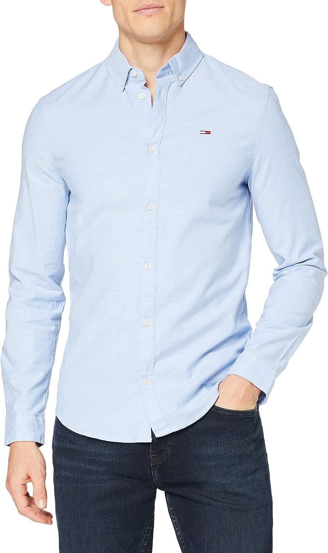 Tommy Hilfiger TJM Slim Stretch Oxford Shirt Camisa para Hombre