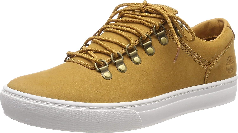 Timberland Men's Low-top Sneakers, Yellow Wheat Nubuck