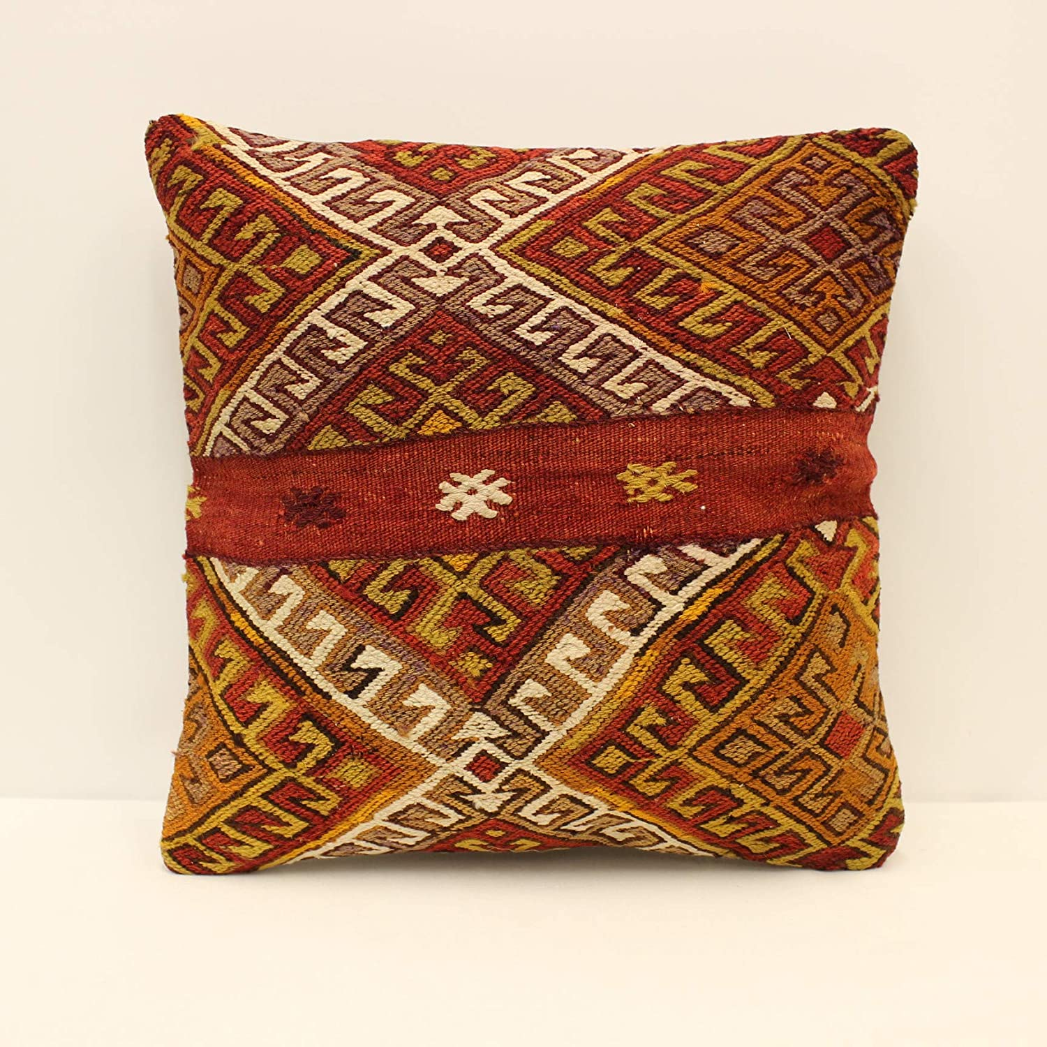 Turkish Kilim Pillow Cover 18x18 inches Home Throw Nashville-Davidson Mall New product Sofa P