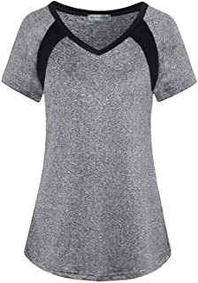 MISS FORTUNE Womens Workout Clothes Plus Size Activewear Short Sleeve Exercise Tops Jogging Cool Dri Fit Practice Gym Yoga...