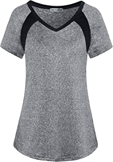 Women's Yoga Tops Cool Dri Activewear Workout T-Shirt