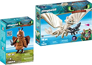 Playmobil Fishlegs with Flight Suit and Light Fury with Baby Dragon and Children