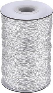 109 Yardas/Rollo Cordón Blanco Trenzado de Cortina de Elevación para Persiana de Aluminio, Planta de Jardinería y Manualidades (1,4 mm)