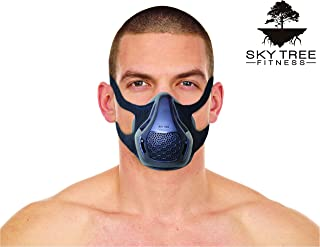 Sky Tree Fitness Training Mask High Altitude Resistance Workout Mask for MMA, Running, and Cardio - A Fitness Mask That Includes a Free Carrying Case