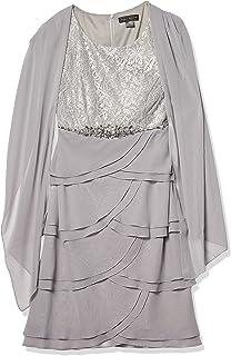 فستان نسائي مطرز مقاس كبير من Jessica Howard مع وشاح