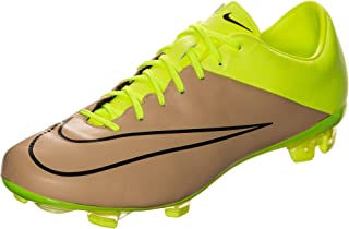 Nike Men's Mercurial Veloce II Leather FG Canvas/Black/Volt Shoes