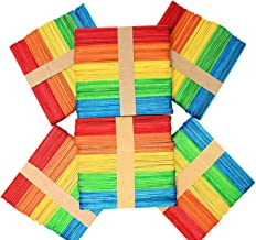 Anjing 50 Houten Ambachtelijke Lolly Sticks Kleuren Gemengde Giant Lolly Sticks Heldere Gekleurde Primaire School benodigd...