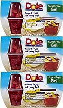 Dole Gel Bowls Mixed Fruit in Sugar Free Cherry Gel, 4.3 oz, 3 pk
