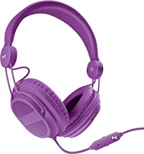 iSound DGHP-5540 Kid Friendly Headphones with Mic and Music Volume, Purple