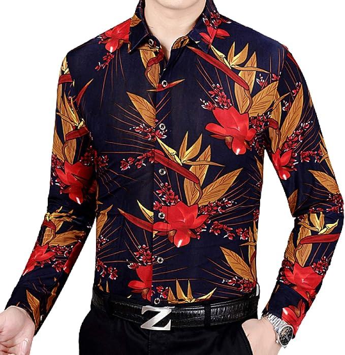 Camisa sólida de Rendimiento elástico con Botones para Hombre ...