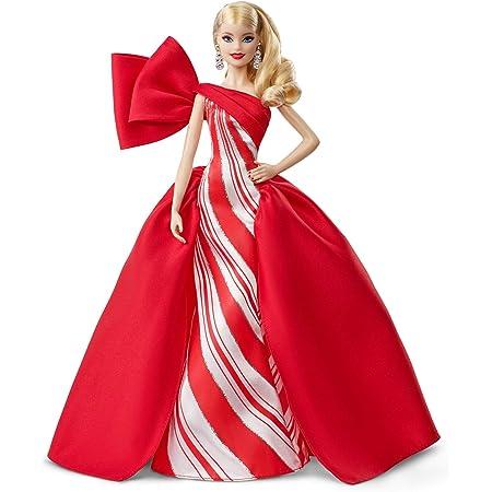 Barbie - Collector Felices Fiestas 2019, Muñeca Rubia con Ondas (Mattel FXF01)