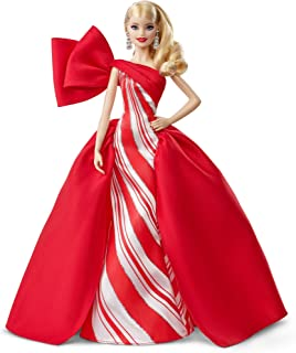​2019 Holiday Barbie Doll, 11.5-Inch, Blonde, Wearing Red...