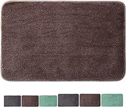 "Microfiber Bathroom Rugs (28""x18"", Brown) Non-Slip Stronger Water Absorption Machine Washable Doormats for Bathtub Bedroom..."