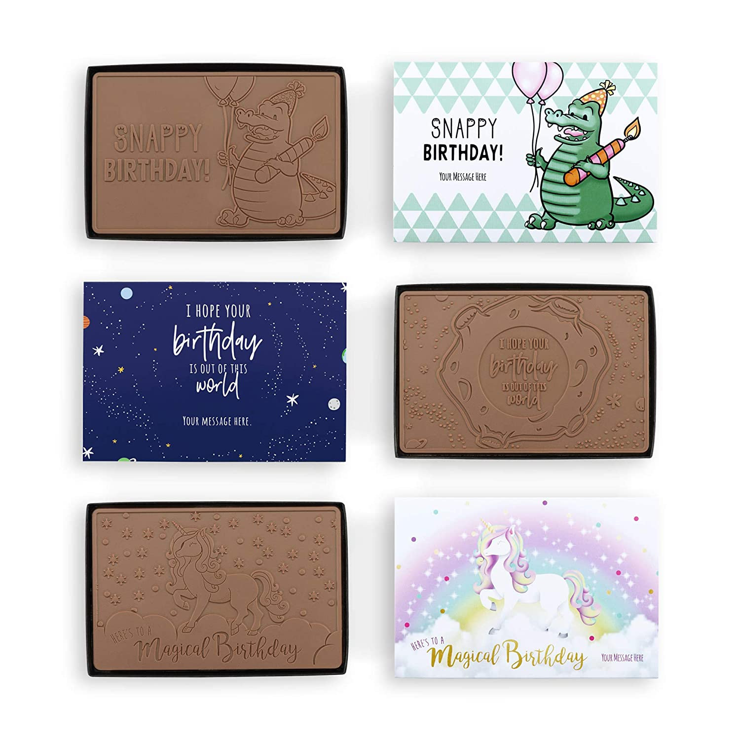 Totally Chocolate Max 45% OFF Happy Birthday 4x6 Party Cho Belgian El Paso Mall 6 Pack of