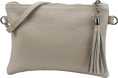 SH Leder Echtleder Umhängetasche Clutch kleine Tasche Abendtasche 22x15cm Anny G248