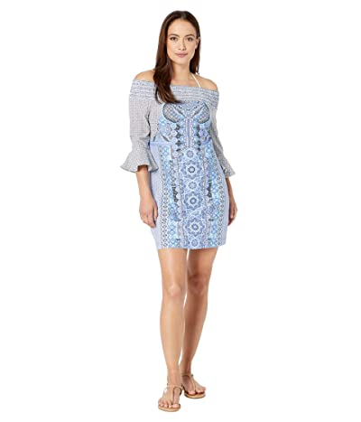 Cabana Life Midnight Marrakesh Coverluxe Smocked Dress Cover-Up (Multi) Women