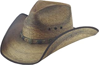 BULL-SKULL HATS, PALM LEAF COWBOY HAT, PINCH 301