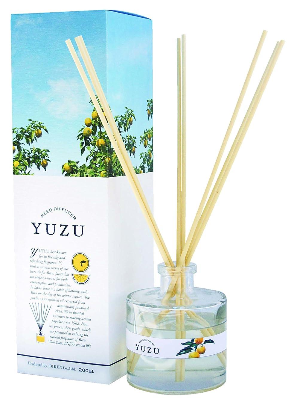 衝撃スナッチ蒸発する(美健)BIKEN YUZU消臭リードディフューザー 高知県産ゆず精油(香り)配合