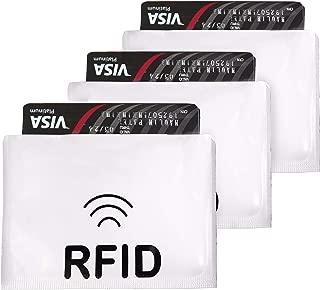 iParn Horizontal RFID Sleeves Credit Card Sleeve, Debit Card Sleeves, ATM Card Cover, Card Protector Sleeves Blocks Credit Cards Silver RFID Credit/Debit Card Sleeves- 3 pcs