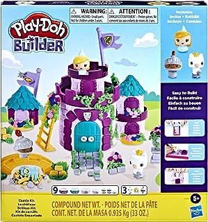 اسباب بازی Play-Doh Builder Castle Building Building برای کودکان 5 سال به بالا با 9 قوطی مدلینگ غیر سمی-آسان برای ساخت مجموعه کاردستی DIY