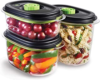 FoodSaver Preserve and Marinate Vacuum Containers | 700 ml, 1.2 L and 1.8 L Airtight BPA-Free Food Containers | Leak-Proof...