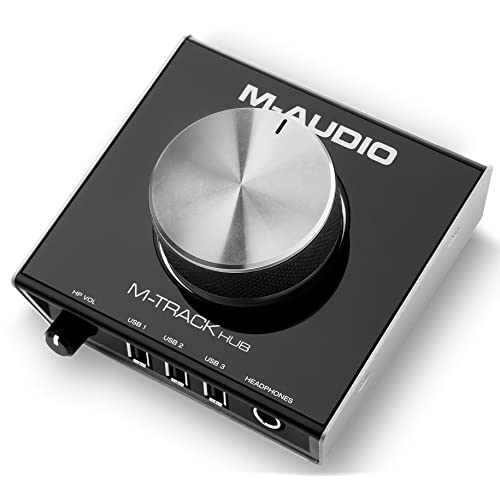 M-Audio M-Track Hub  Interface USB de Monitoring 24bits avec 3 Ports Alimentés Intégrés