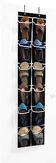 ZOBER Over The Door Shoe Organizer - 12 Mesh Pockets, Space Saving Hanging Shoe Holder for Maximizing Shoe Storage, Access...