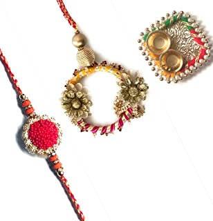 Shreeji Rakhi Royal Collection Bhai bhabhi rakhi Set for Brother and sister in law Exclusive 1Pc Rakhee Bracelet for Broth...