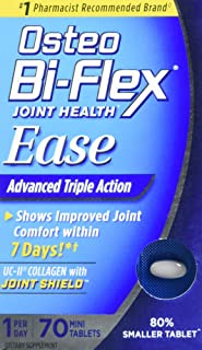 Osteo Bi-Flex Joint Health Ease 70 Mini Tabs 1 a Day Advanced Triple Action UC-II Collagen Formula