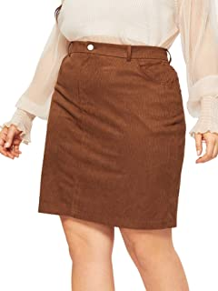 brown suede skirt plus size
