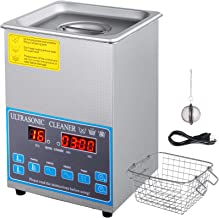 Mophorn 28/40khz Dual Frequency Ultrasonic Cleaner Stainless Steel Digital Lab Ultrasonic Cleaner with Heater Timer for Jewelry Watch Glasses Cleaning(28/40khz, 2L)