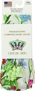 Celeste Stein Therapeutic Compression Socks, White Bellagio, 15-20 Mmhg, Moderate