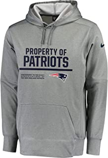 b624d16e4253 Nike New England Patriots Therma-FIT Gray Circuit Property of Performance  Pullover Hoodie - Men s