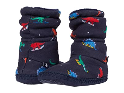 Joules Kids Padabout Boot Slippers (Toddler/Little Kid/Big Kid) (Navy Dinos) Boy