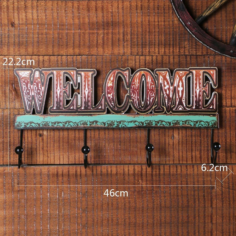 AO-Hook Coat Hook Retro Wood Door Hook Originality Home Iron Wooden Hook Decorate
