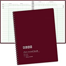 Class Record Book for 9-10 Weeks. 35 Names. Larger Grade Recording Squares. (R1035)