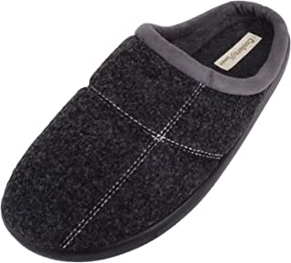 ABSOLUTE FOOTWEAR Mens Soft Felt Slip On EE Wide Fitting Mules/Slippers/Shoes