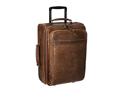 Scully Squadron Wheeled Carry-On (Antique Brown) Carry on Luggage