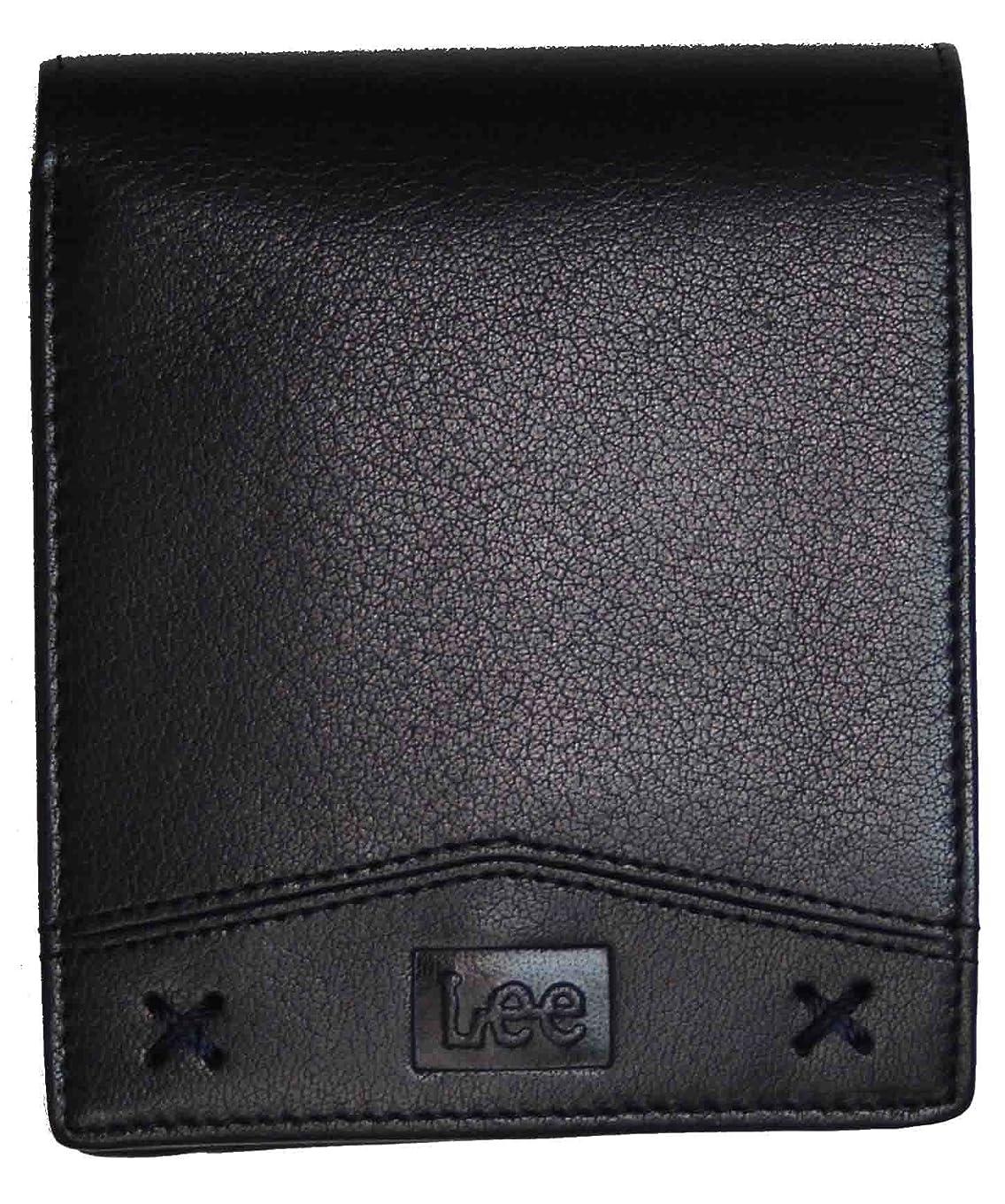 首謀者傷跡秘密の(リー)Lee 牛革 二つ折り財布 パスケース付き/0520314