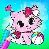 Couleur magique de fleur avec des animaux livre de coloriage pour enfants