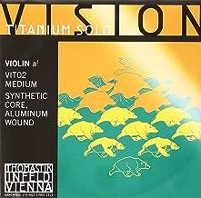 Thomastik-Infeld VIT02 Vision Titanium Solo Violin Strings, Single A String, 4/4 Size, Synthetic Core, Aluminum Wound
