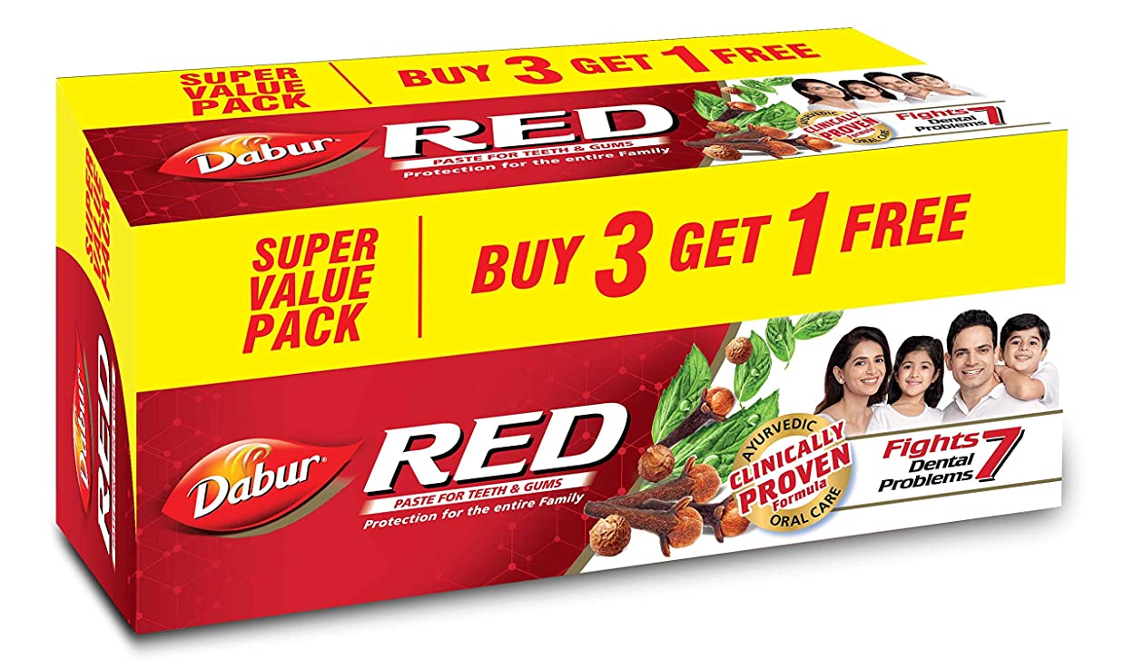 楽観バスト防止Dabur Red Paste - 200g (Buy 3 Get 1 Free)