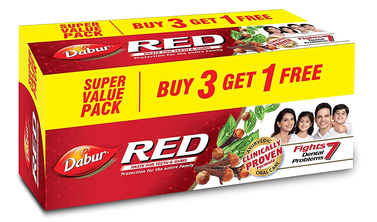同級生スズメバチ宣伝Dabur Red Paste - 200g (Buy 3 Get 1 Free)