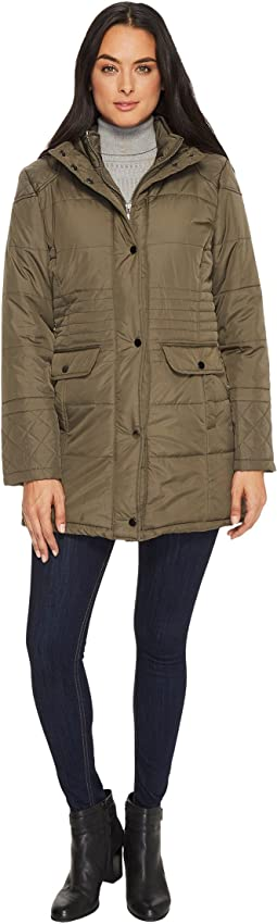 Zip Front Double Snap Pocket w/ Hood