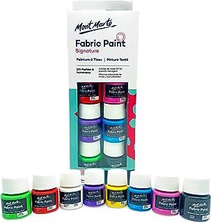 Pintura para Tela y Ropa Mont Marte Permanente y Lavable - 8 Colores x 20 ml - Pintura Textil Ideal para Personalizar Cami...