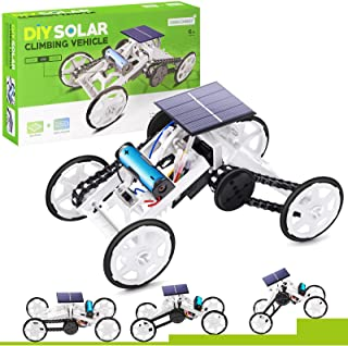 Selieve Stem Toys for 8-10 Year Old Boys, DIY 4WD Car Climbing Vehicle Motor Car Educational Solar Powered Science Buildin...
