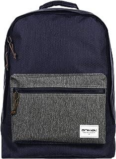 Animal Mens Cayo School College Two Strap Backpack Rucksack Bag - Navy