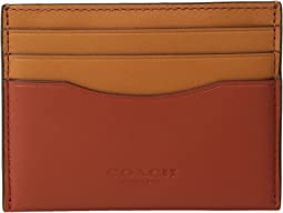 COACH - Flat Card Case in Color Block Leather