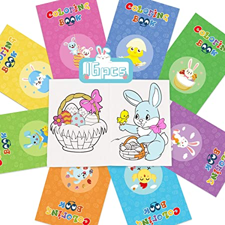Chunky Neon Pearl Color Set of 8 Easter Mickey and Mini Mouse ActivityColoring Book w Bunny /& Egg Crayons