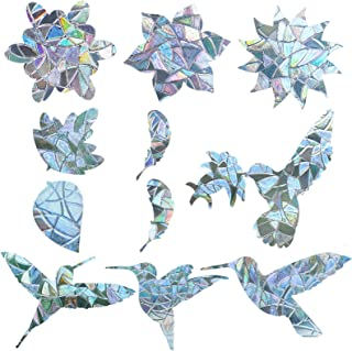 144 Pieces Anti Collision Window Clings Alert Bird Window Decals Glass Alert Stickers Prevent Bird Strikers with Round and...